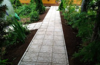 виды садовых дорожек для дачи