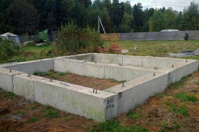 фундамент фбс для бани