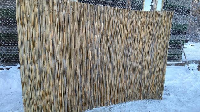 плетеный забор из тростника