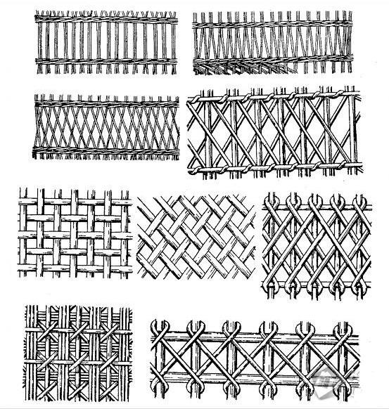 схема плетения заборов из лозы