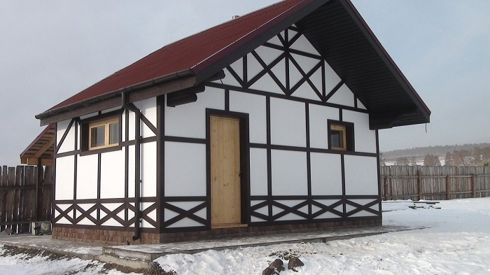 имитация фахверка для фасада дома