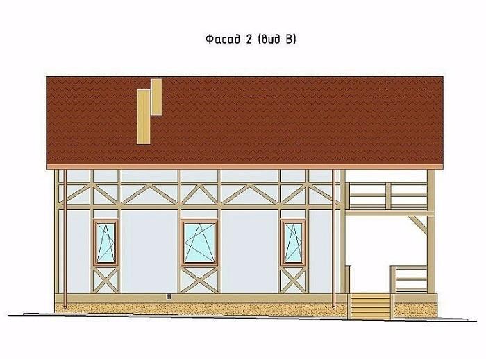 фасад имитация фахверка схема