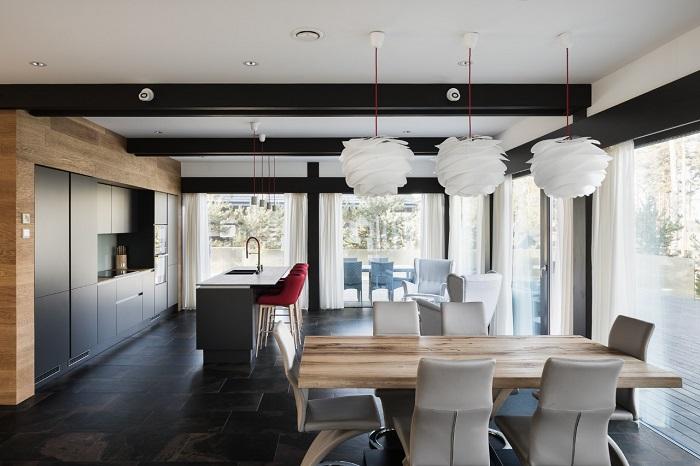 интерьер кухни фахверковом доме