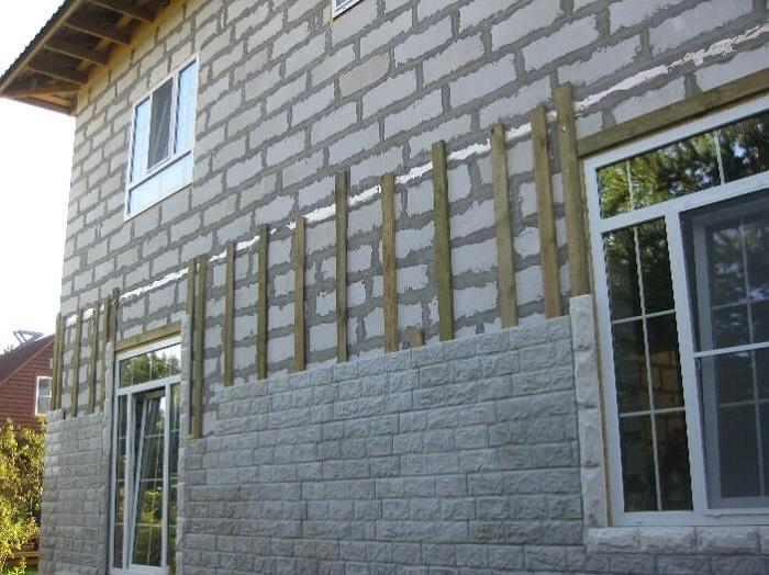 фасадне панели для домов из пеноблоков
