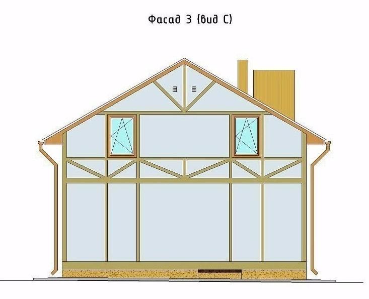 схема расположение досок для фасада фахверка