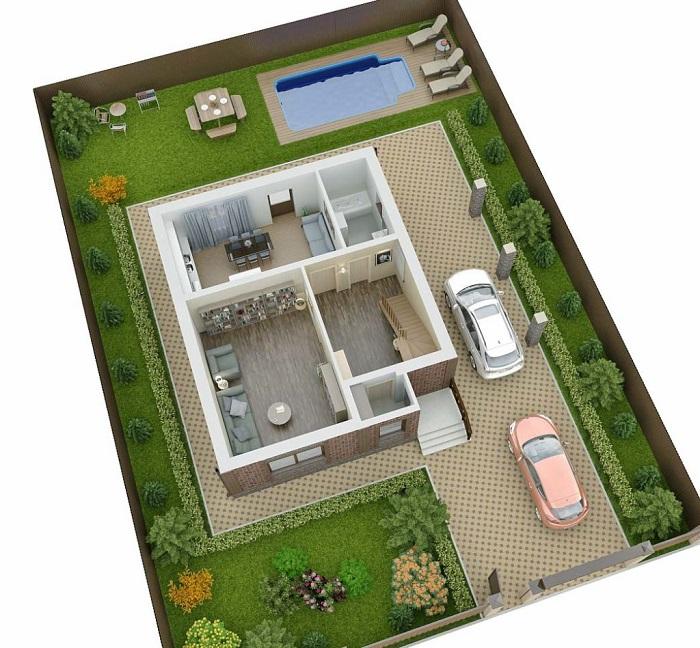 планировка дома на 4 сотках