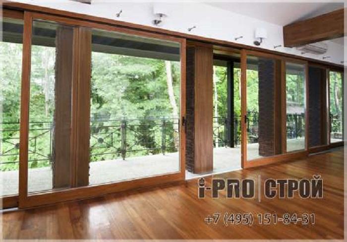 панорамные двери веранды с hs порталами