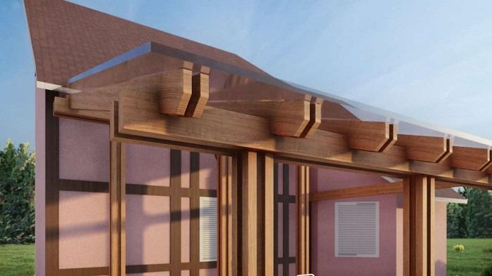 стеклянная крыша веранды