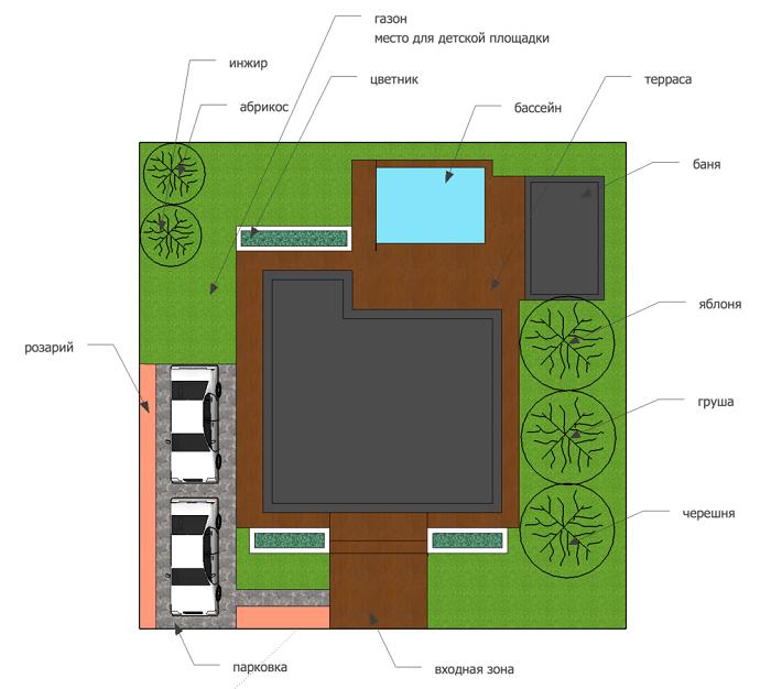 дом с баней на 4 сотках