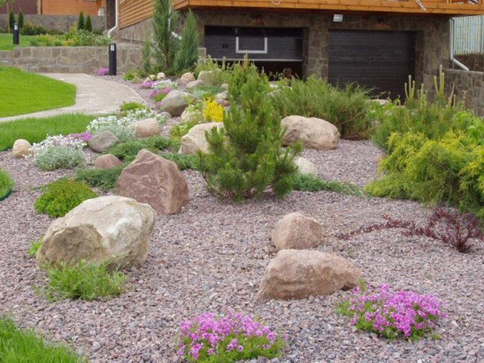 расстановка камней для каменного сада