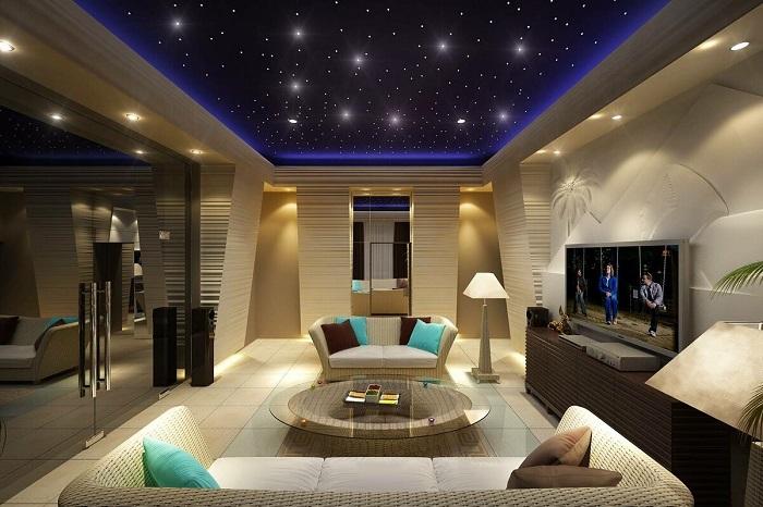 звездное небо двухуровневый потолок