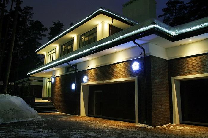 красивые светильники для фасада частного дома