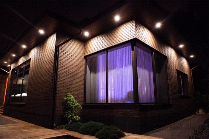 концептуальная подсветка загородного дома