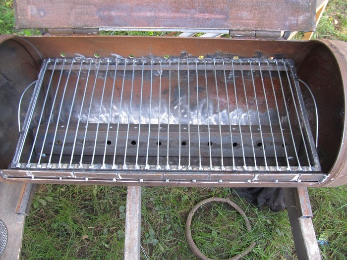 мангал барбекю из газового баллона