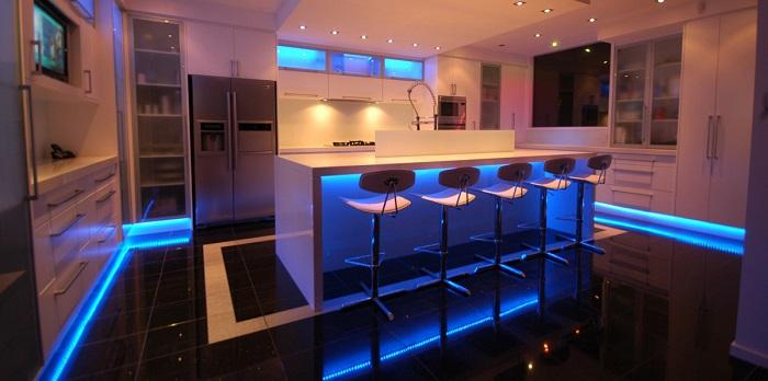 светодиодная подсветка интерьера дома