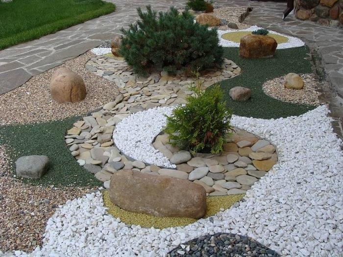 мини сад из камней