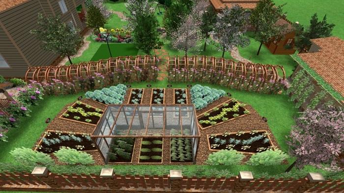 расположение огорода на 20 сотках