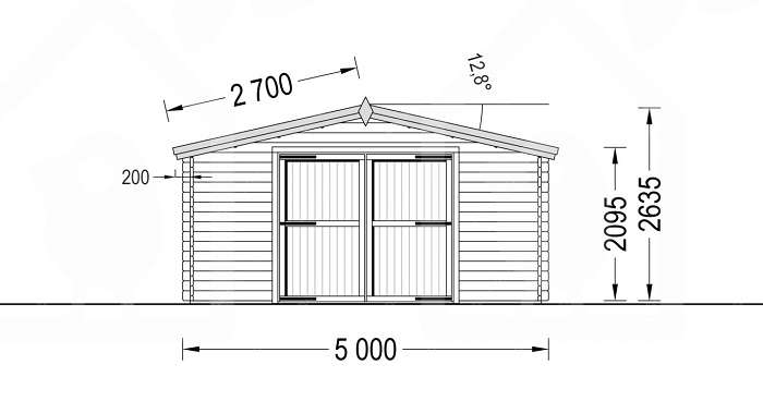 размер гаража из бруса под одну машину