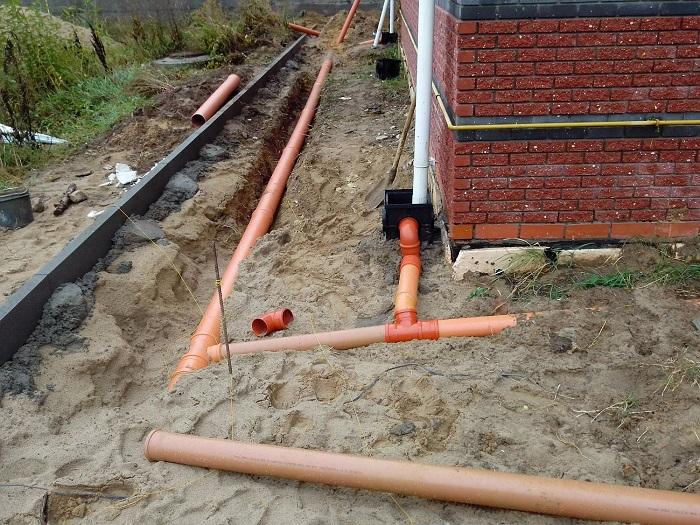 закрытая ливневая канализация в частном доме