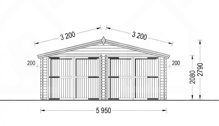 гараж из бруса 6 метров
