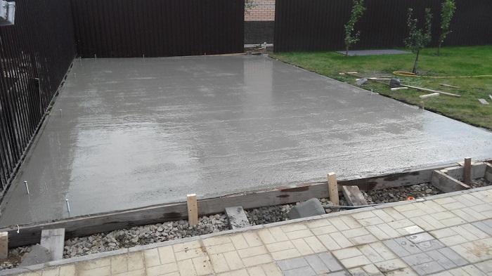 плитный фундамент под гараж