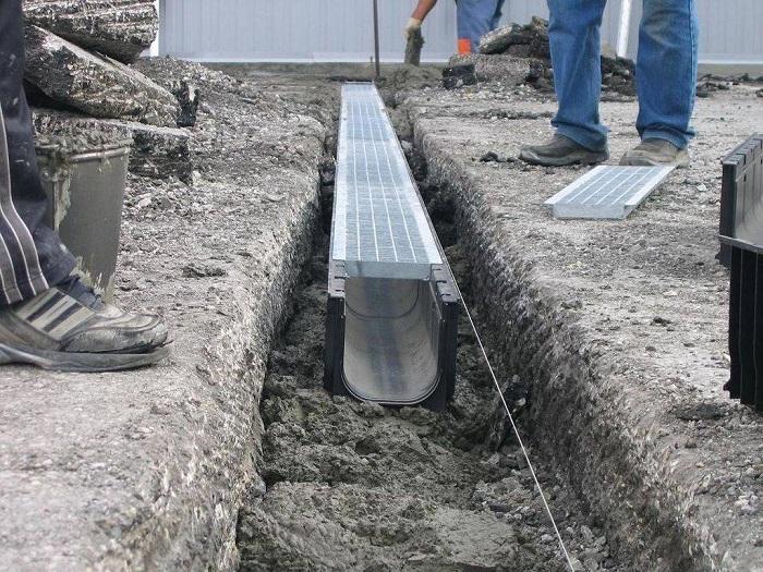 желоба открытой ливневой канализации