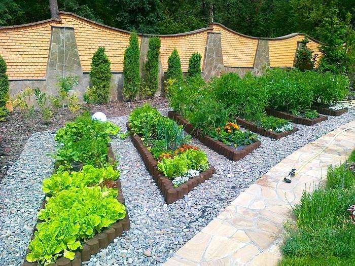 ландшафтный дизайн участка с огородом