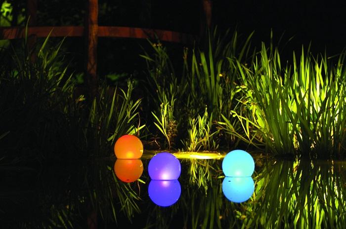 водные светильники шары
