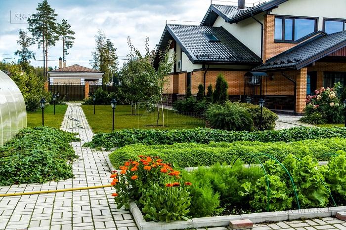 ландшафтный дизайн небольшого участка с огородом