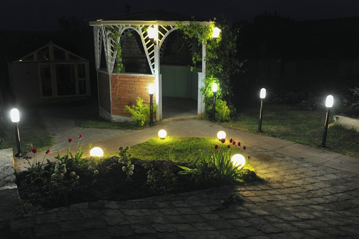 декоративное освещение зоны отдыха на участке