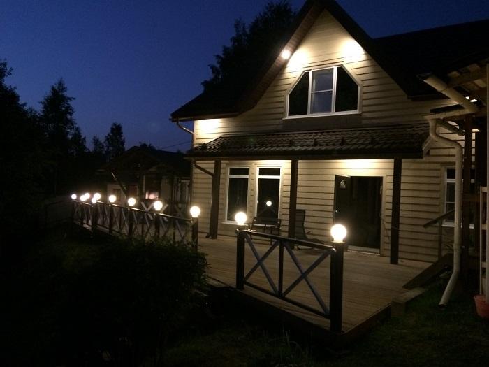 освещение фасада дома россия