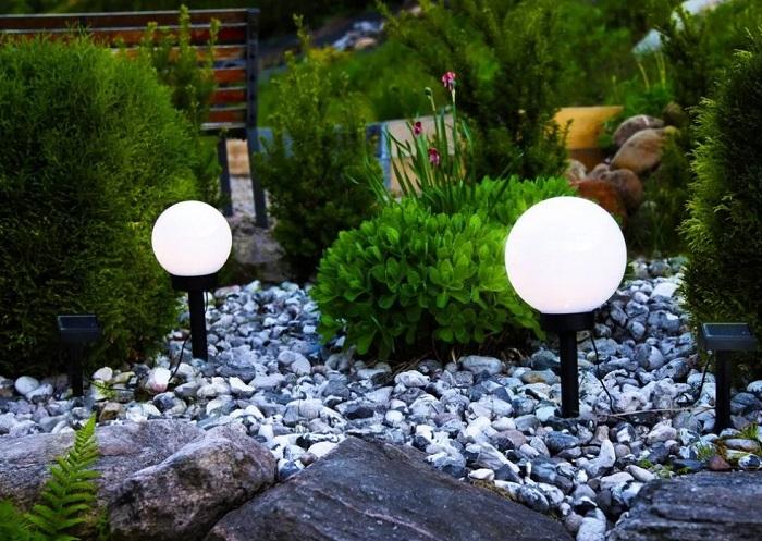 сферические светильники ландшафтные