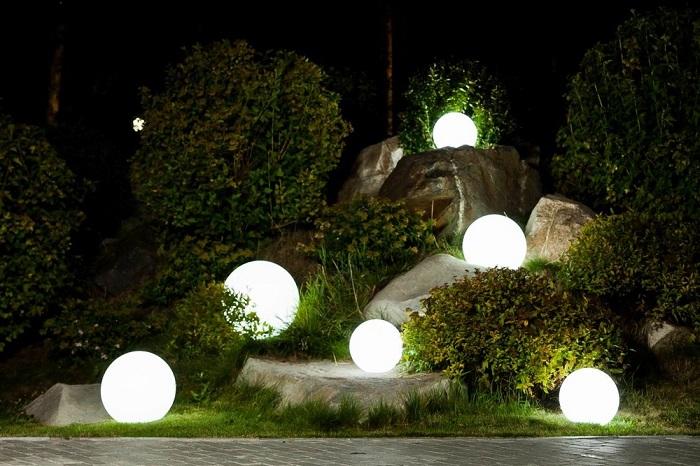 светильники шары наземные