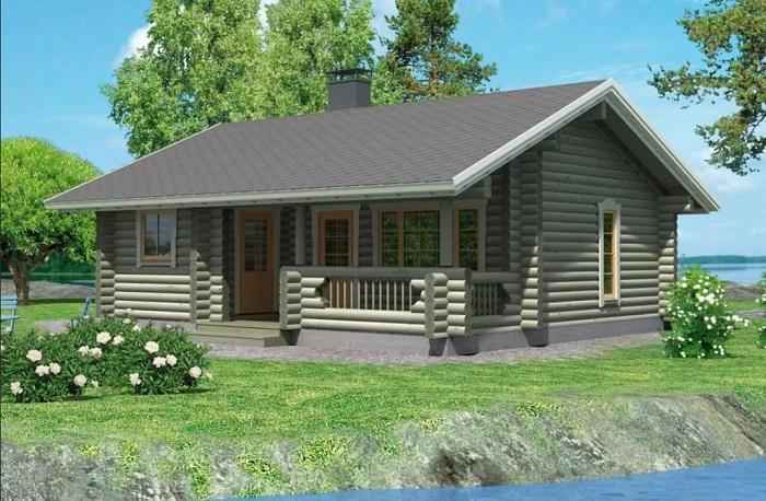 дом с баней под одной крышей 8 на 8