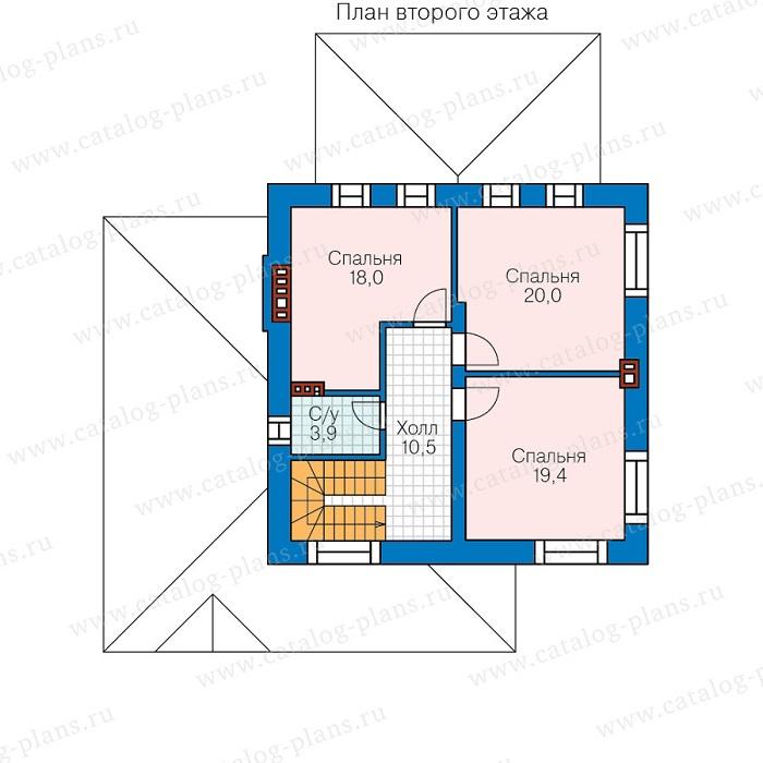 план второго этажа дома бани из кирпича