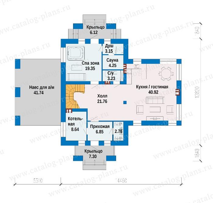 планировка дома с баней и бассейном