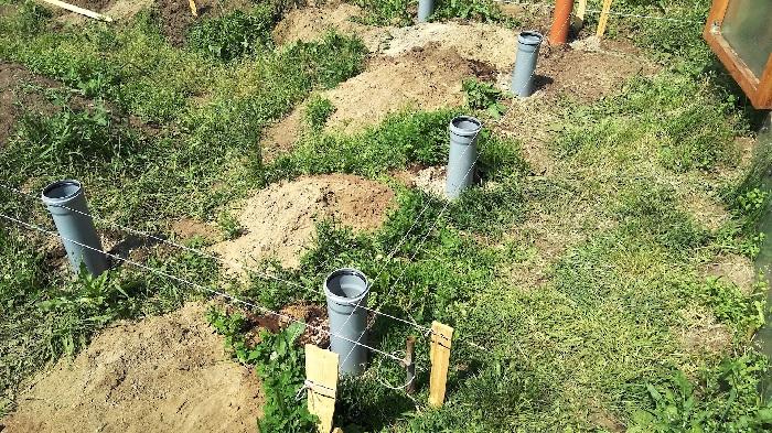 свайный фундамент из канализационных труб