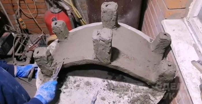 мостик из бетона декоративный