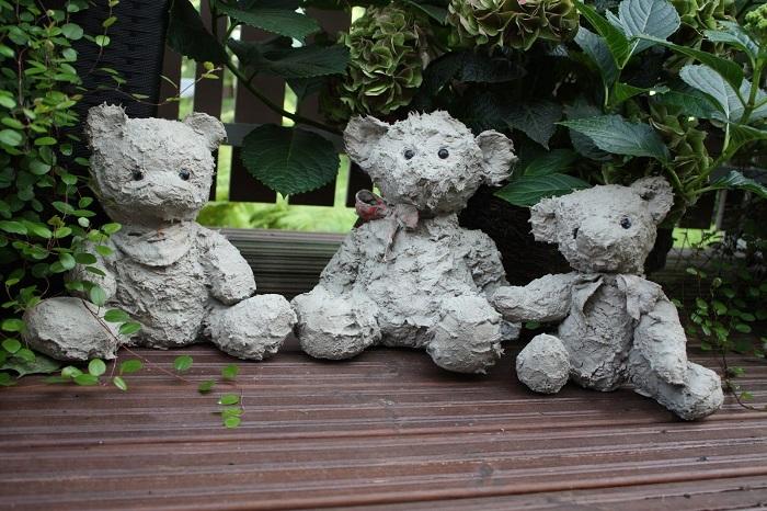 скульптура для сада из мягкой игрушки