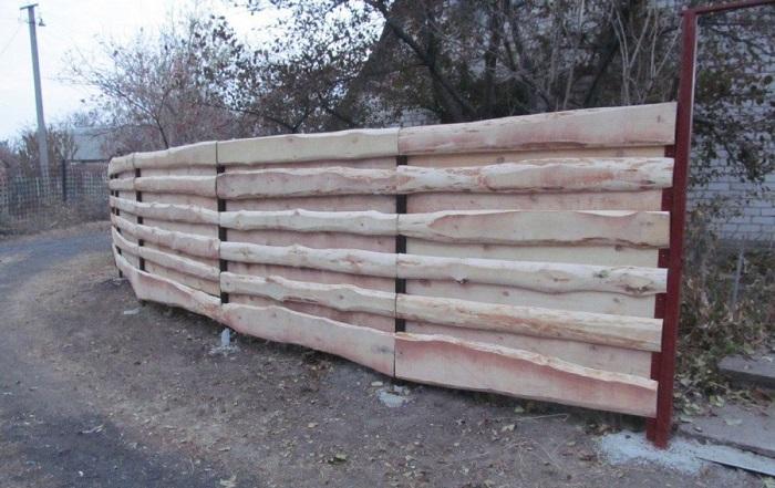 забор из горбыля жалюзи
